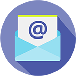 Email at symbol in a letter and envelope