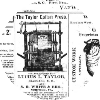 Screenshot from Historic North Carolina Digital Newspapers interface